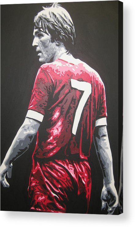 Kenny Dalglish Acrylic Print featuring the painting Kenny Dalglish - Liverpool Fc 2 by Geo Thomson