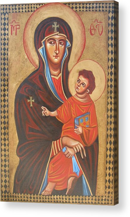 Icon Acrylic Print featuring the painting Mary Help Of The Romans by Joseph Malham