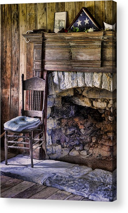 Fireplace Acrylic Print featuring the photograph Memories by Heather Applegate