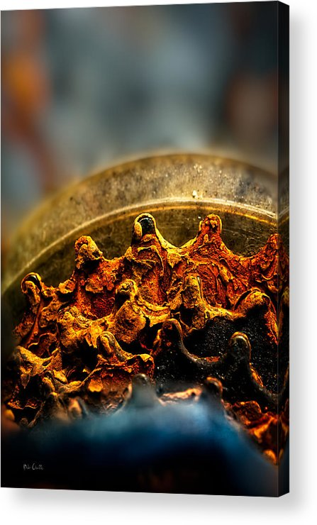Gear Acrylic Print featuring the photograph Muddy Rusty Sprockets by Bob Orsillo
