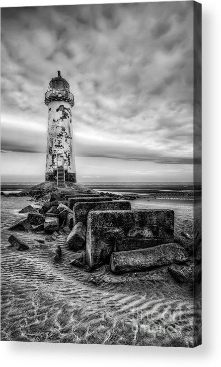 Lighthouse Acrylic Print featuring the photograph Point Of Ayre Lighthouse by Adrian Evans