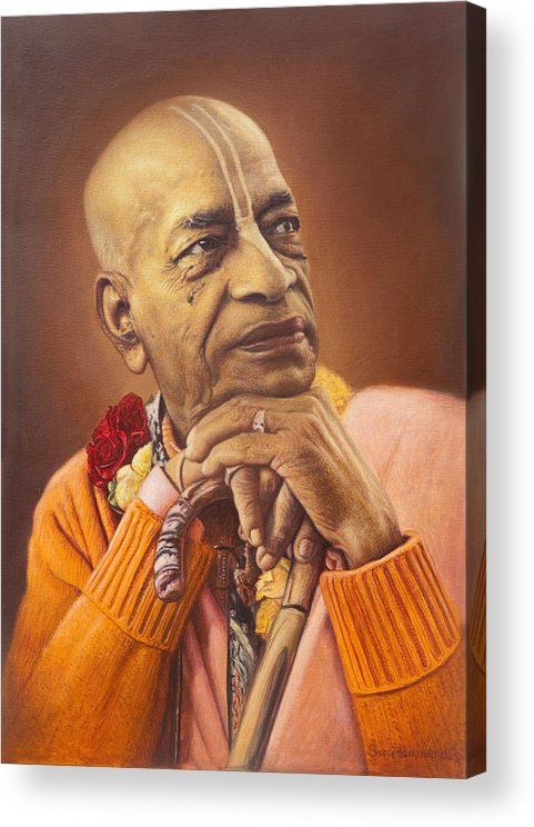 Portrait Acrylic Print featuring the painting Portrait by Satchitananda das Saccidananda das