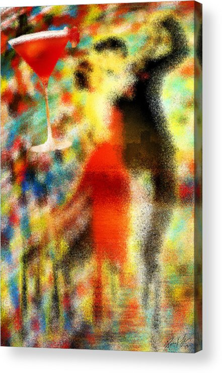 Tango As The Sunset Acrylic Print featuring the painting Tango As The Sunset by Kenal Louis
