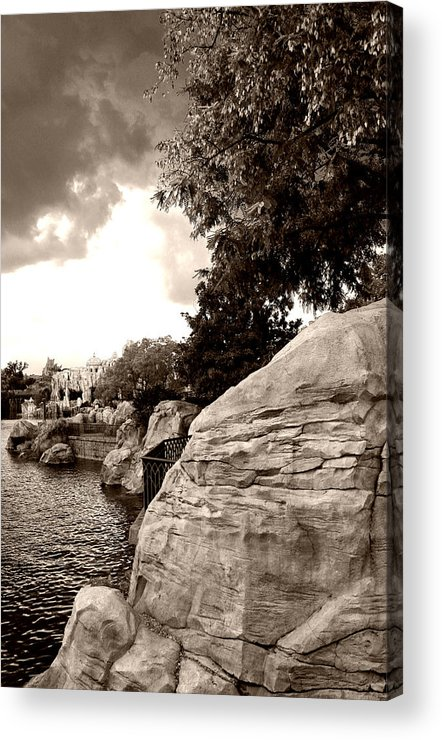 Architecture Acrylic Print featuring the photograph A Distant Shore by Nina Fosdick