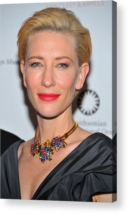 Cate Blanchett Acrylic Print featuring the photograph Cate Blanchett Wearing A Van Cleef & by Everett