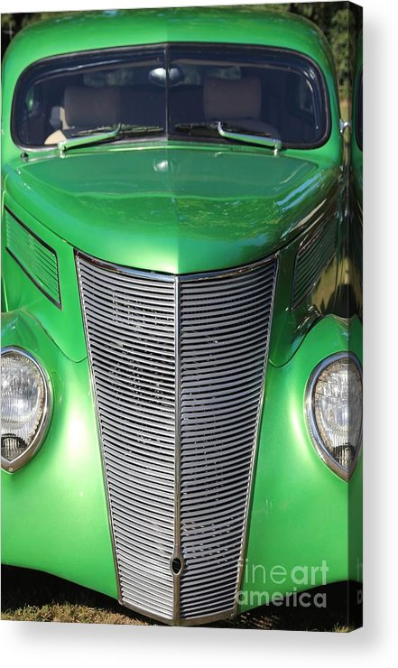 Car Acrylic Print featuring the photograph Green With Envy by Sophie Vigneault