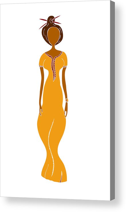 Fashion Acrylic Print featuring the painting Fashion Drawing by Frank Tschakert