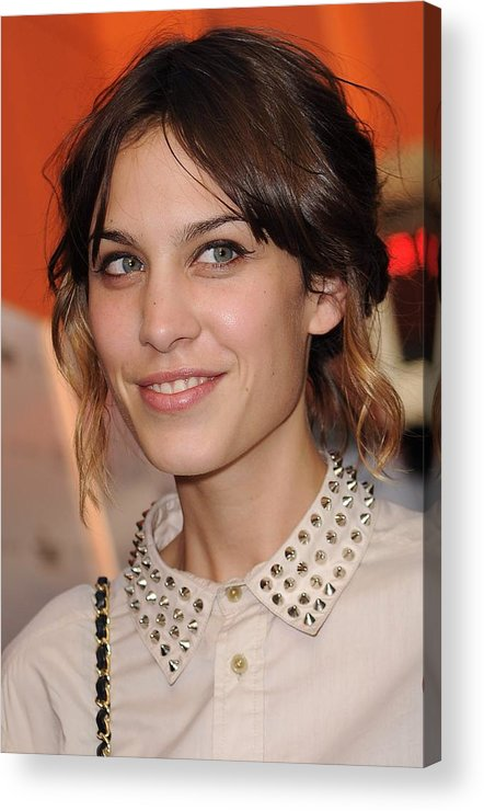 Alexa Chung Acrylic Print featuring the photograph Alexa Chung At Arrivals For Inglourious by Everett