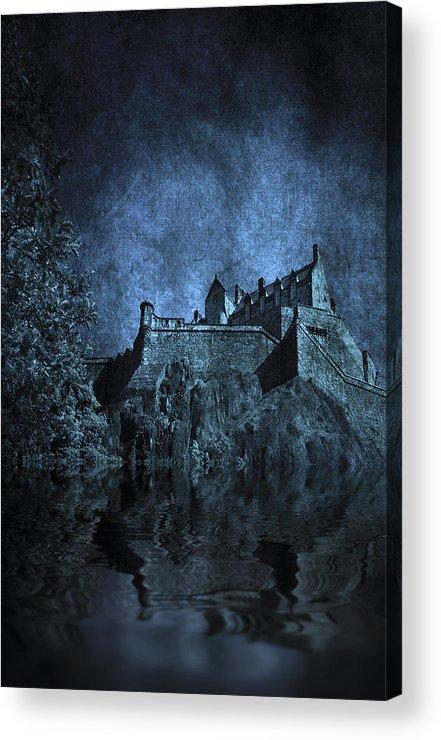 Abbey Acrylic Print featuring the photograph Dark Castle by Svetlana Sewell
