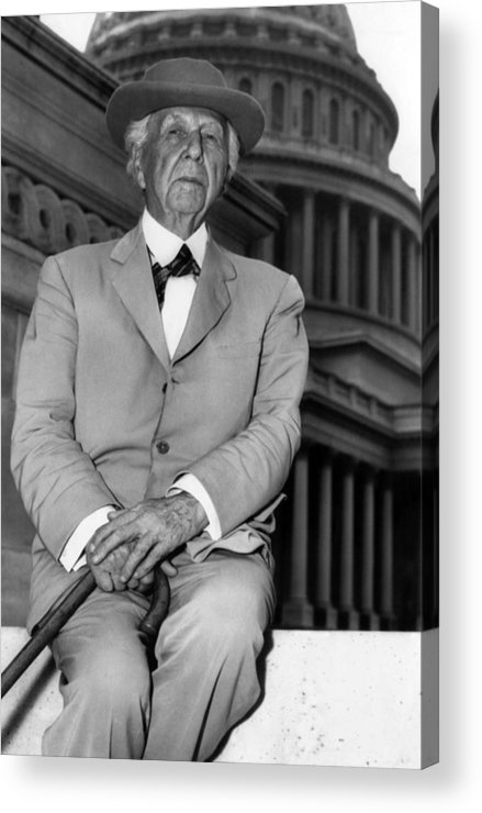 1950s Acrylic Print featuring the photograph Frank Lloyd Wright 1867-1959, Prominent by Everett