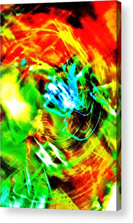 Abstract Acrylic Print featuring the digital art Gagaland by George Aubut