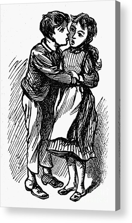 19th Century Acrylic Print featuring the photograph Mother Goose: Kiss by Granger