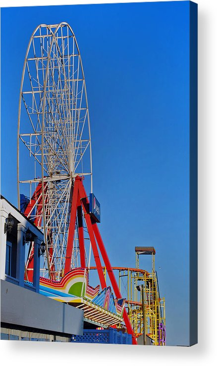 Fair Acrylic Print featuring the photograph Oc Winter Ferris Wheel by Skip Willits