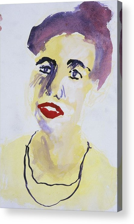 Fine Art Acrylic Print featuring the painting Overlap by Iris Gill