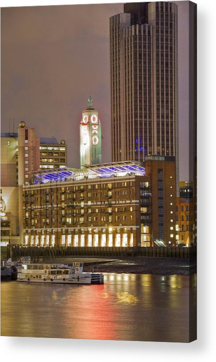 Oxo Acrylic Print featuring the photograph Oxo Tower Night  by David French