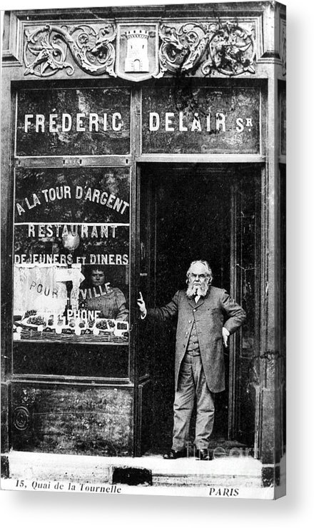 1890s Acrylic Print featuring the photograph Paris Restaurant, 1890s - To License For Professional Use Visit Granger.com by Granger