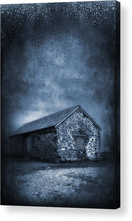 Abandoned Acrylic Print featuring the photograph Rain by Svetlana Sewell