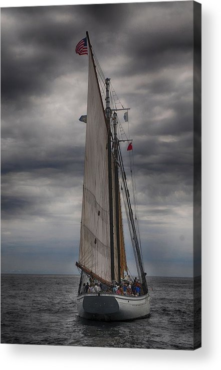Seascape Acrylic Print featuring the photograph Spirit Of Massachusetts No 2 by Mike Martin