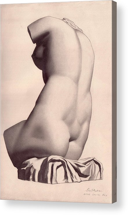 Lady Acrylic Print featuring the drawing The Lady by Stuart Monkhouse