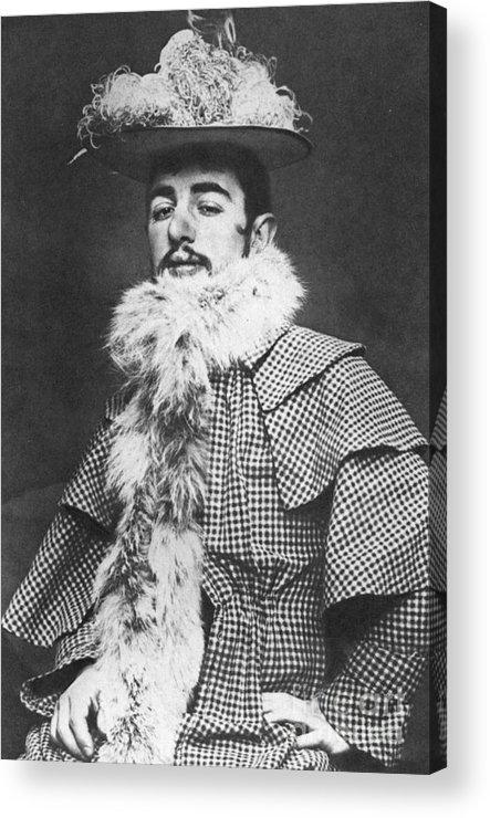 1890 Acrylic Print featuring the photograph Henri De Toulouse-lautrec by Granger