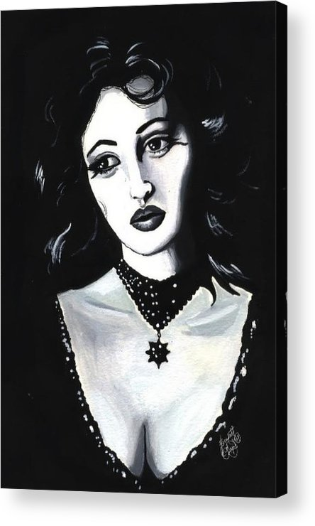 Monica Acrylic Print featuring the painting Monica by Scarlett Royal