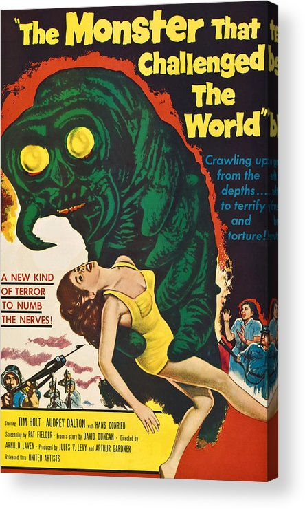 1950s Poster Art Acrylic Print featuring the photograph The Monster That Challenged The World by Everett