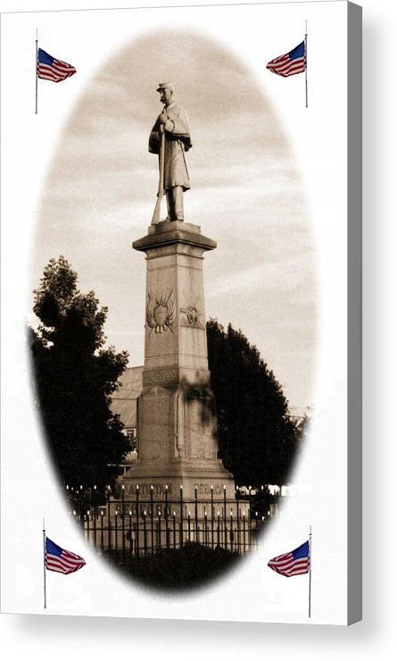Civil War Acrylic Print featuring the photograph 102108-2 Rememberance. by Mike Davis