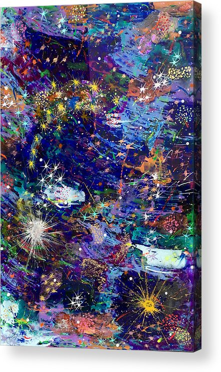 Acrylic Acrylic Print featuring the painting 16-1 Blue Space by Patrick OLeary
