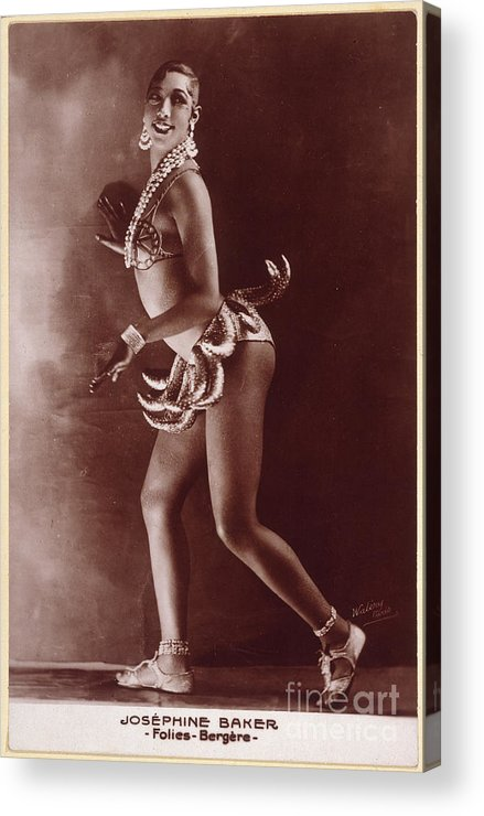 1929 Acrylic Print featuring the photograph Josephine Baker (1906-1975) by Granger