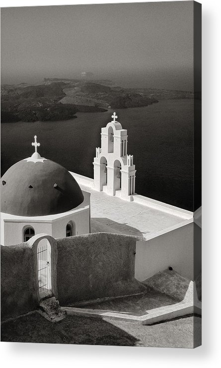 Santorini Acrylic Print featuring the photograph Greek Island - Santorini by Manolis Tsantakis