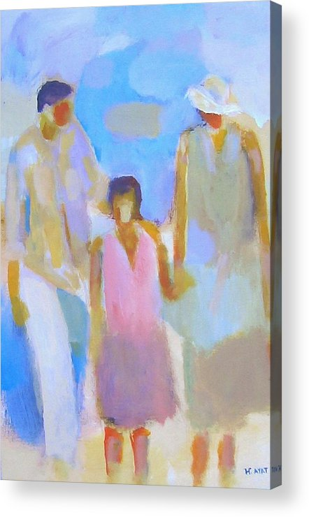 Abstract Acrylic Print featuring the painting 3 With Love by Habib Ayat