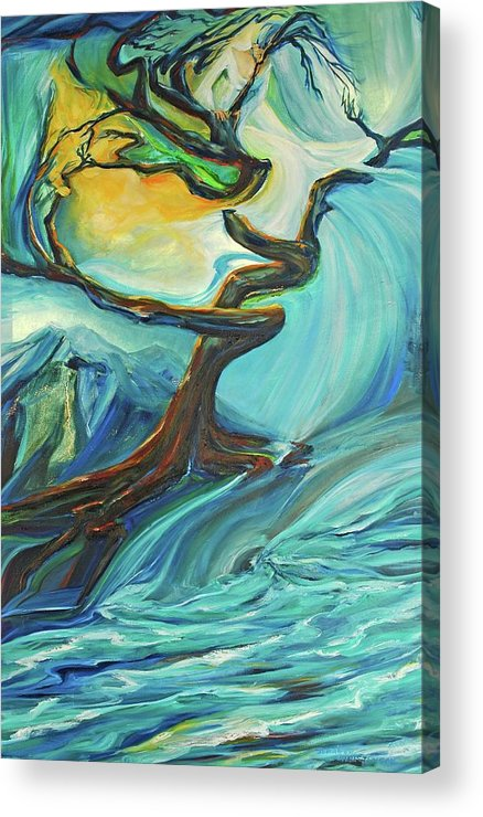 Landscape Acrylic Print featuring the painting A Healing Earth by Jennifer Christenson