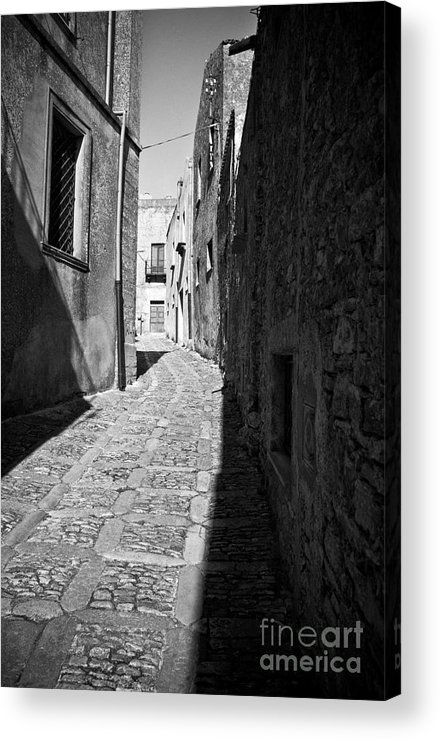 Street Acrylic Print featuring the photograph A Street In Sicily by Madeline Ellis