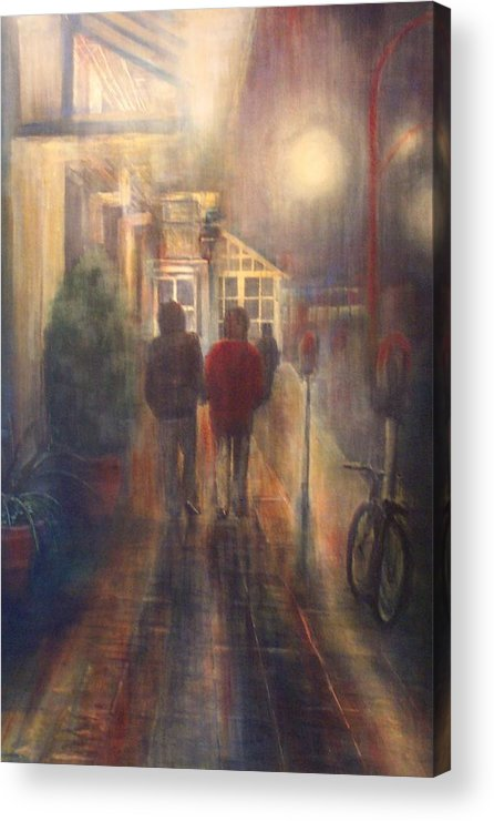 People Acrylic Print featuring the painting After Hours by Victoria Heryet