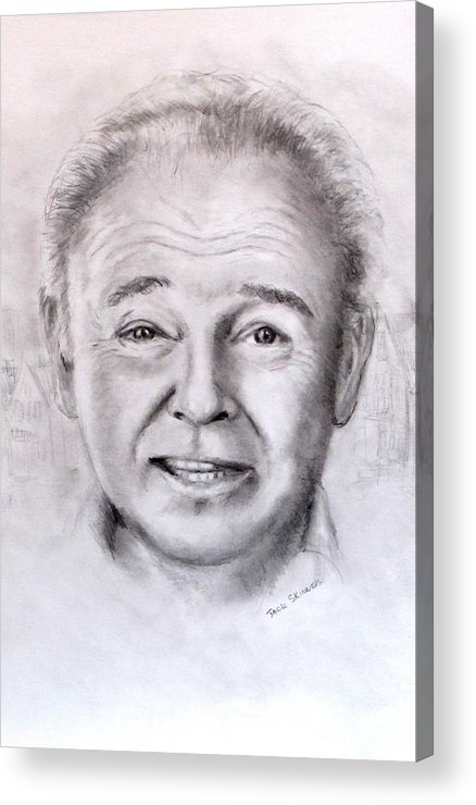 Archie Bunker Acrylic Print featuring the drawing Archie by Jack Skinner