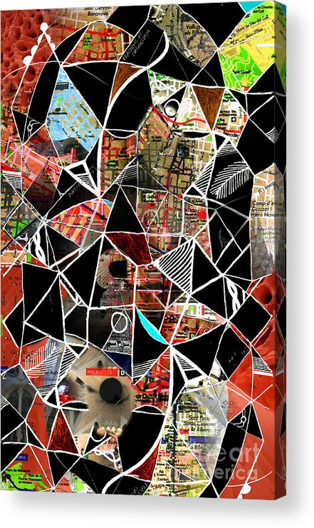 Barcelona Acrylic Print featuring the digital art Barcelona by Andy Mercer