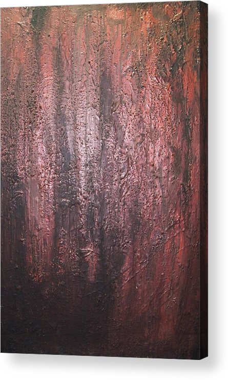 Abstract Acrylic Print featuring the painting Black No 1 by Elizabeth Klecker