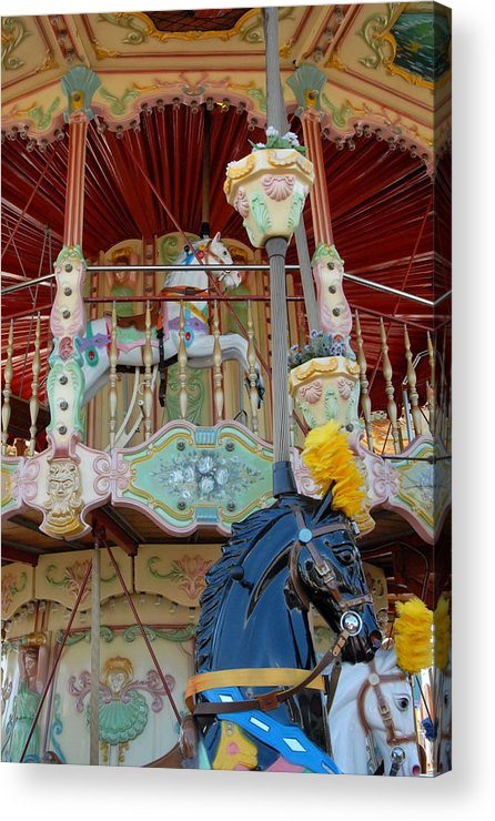 Carrousel Horse Canvas Prints Acrylic Print featuring the photograph Carrousel 57 by Joyce StJames