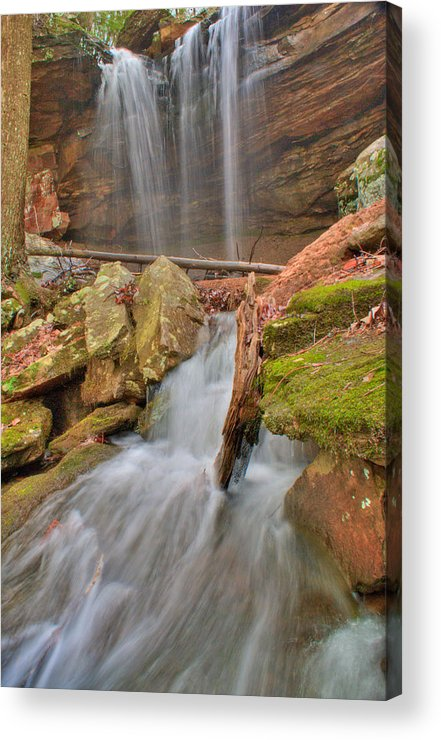 Water Acrylic Print featuring the photograph Cascading Waterfall by Douglas Barnett