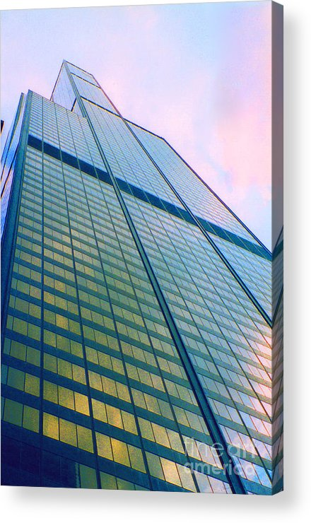 First Star Art By Jrr Acrylic Print featuring the photograph Chicago Sears Willis Tower Pop Art by First Star Art