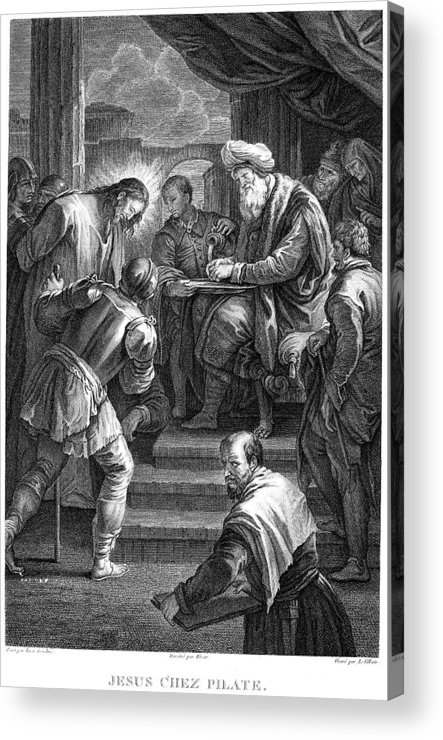 18th Century Acrylic Print featuring the photograph Christ Before Pilate by Granger