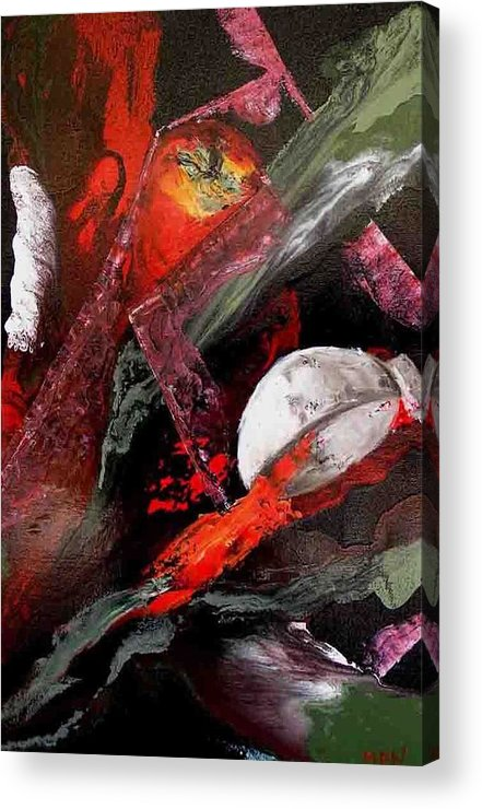 Acrylic Print featuring the painting Cooking Gazpacho by Evguenia Men