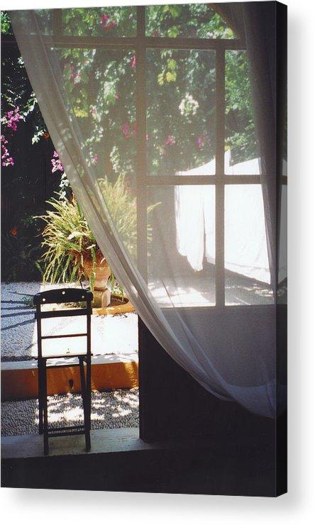 Rhodes Acrylic Print featuring the photograph Curtain by Andrea Simon
