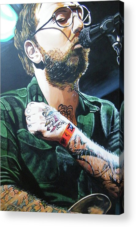 Dallas Green Acrylic Print featuring the painting Dallas Green by Aaron Joseph Gutierrez