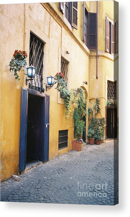Door Acrylic Print featuring the photograph Doorway In Rome by Valerie Lynn