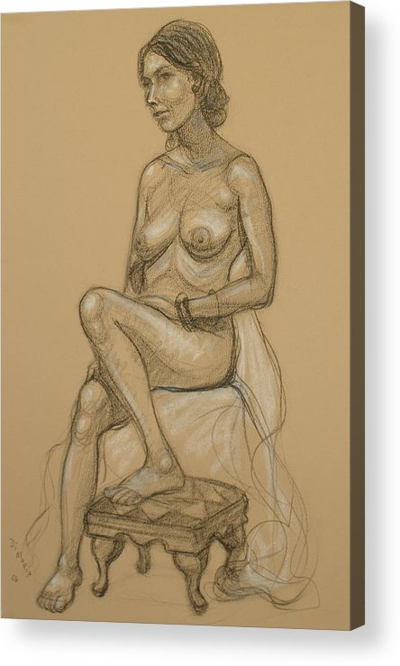 Realism Acrylic Print featuring the drawing English Model 3 by Donelli DiMaria