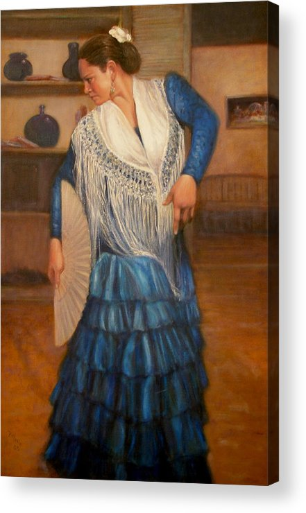 Realism Acrylic Print featuring the painting Flamenco 2 by Donelli DiMaria