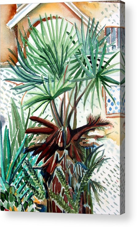 Palm Acrylic Print featuring the painting Florida Palm by Mindy Newman