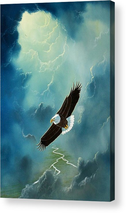 Eagle Acrylic Print featuring the painting Freedom by Don Griffiths
