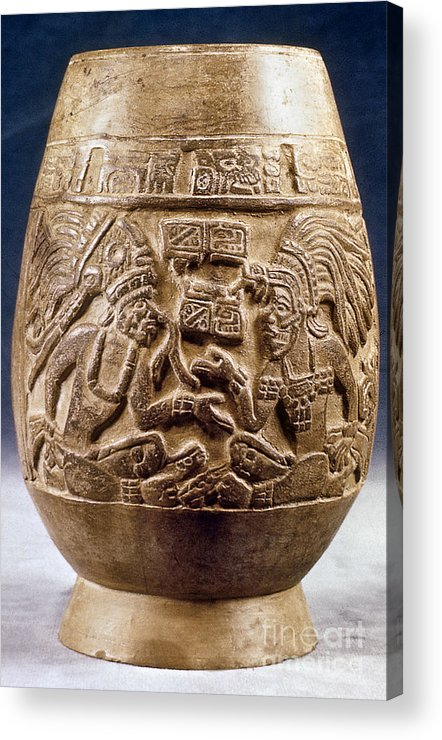 900 Acrylic Print featuring the photograph Guatemala: Mayan Vase by Granger